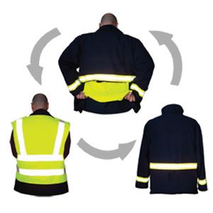 ReadyViz Vest Ricochet shown on all sides