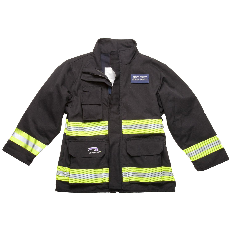 Ricochet Out Front Tech Rescue Coat Black Front